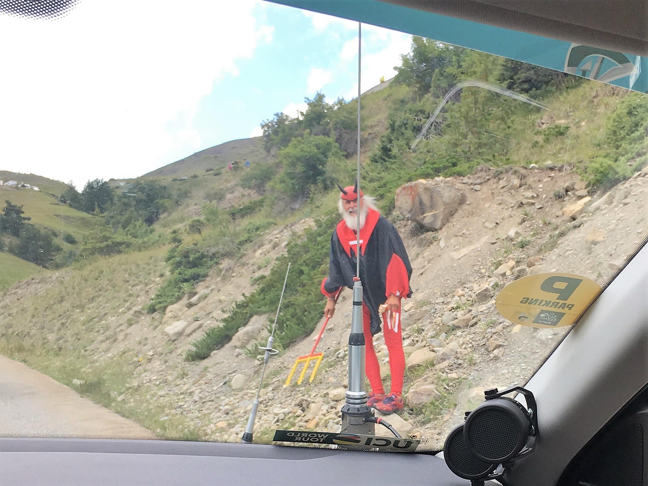 The famous red devil of the Tour de France