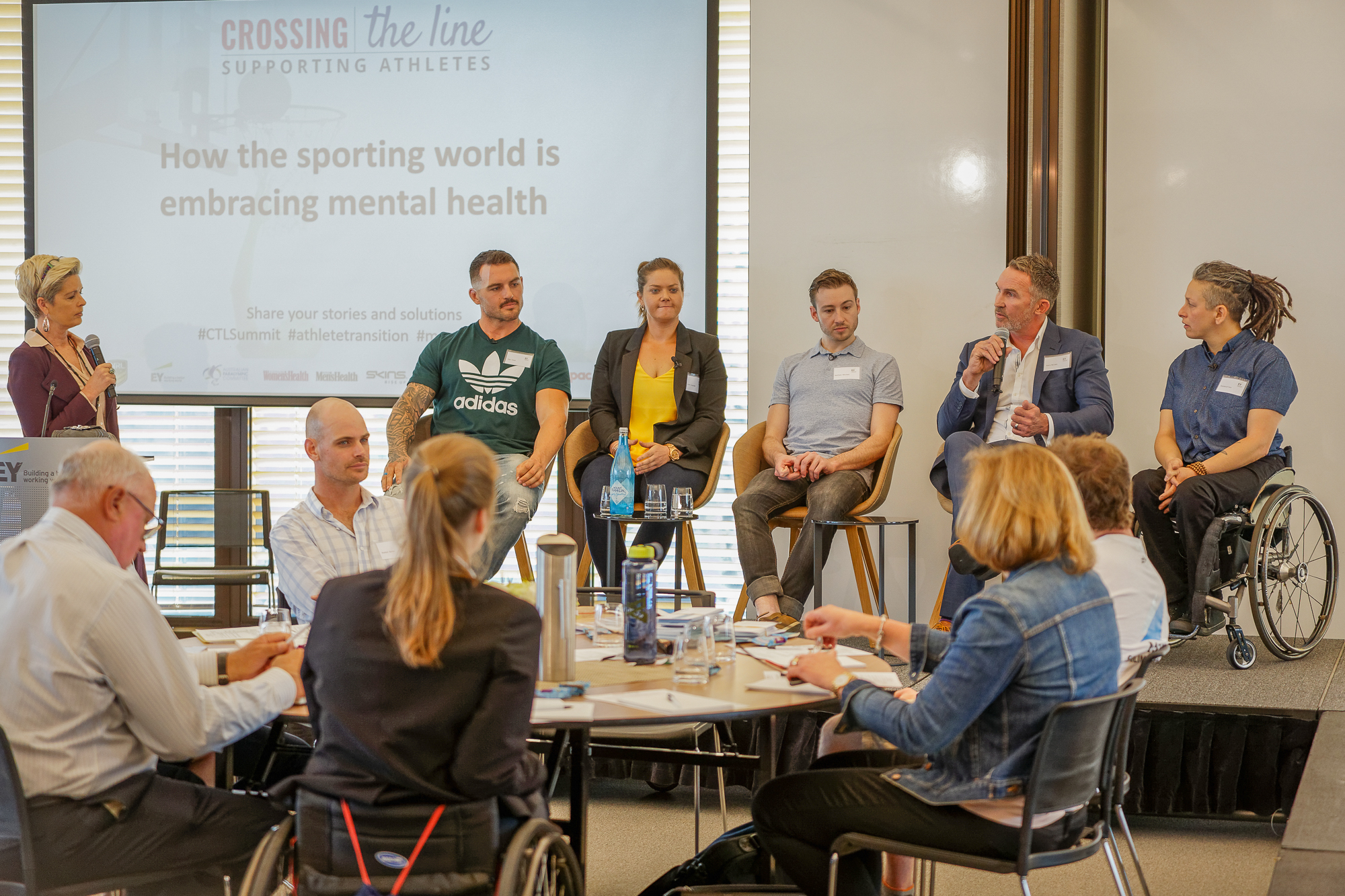 Crossing The Line Summit panel: How the sporting world is embracing mental health